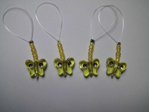 amarillo Maschenmarkierer mariposa Stitch Marker accesorios de punto a mano