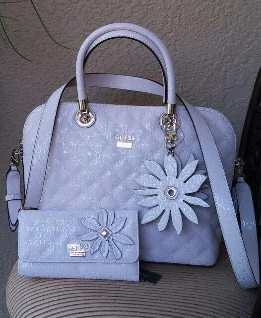 Nwt Guess Jordyn Dome Satchel Handbag Wallet Set Color Cameo Pink Authentic