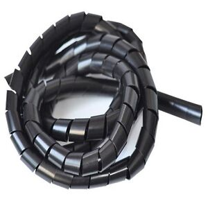 Spiral Cable Wrap Tidy//Hide//Banding//Loom PC TV Home Cinema Wire Management Lot