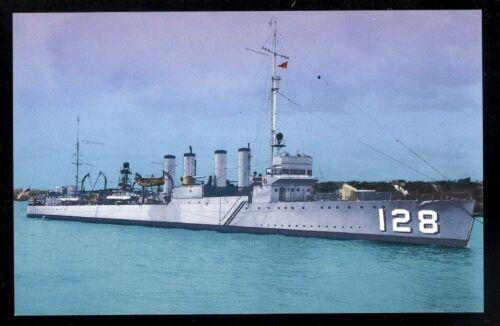 USS Babbitt DD-128  postcard US Navy warship destroyer