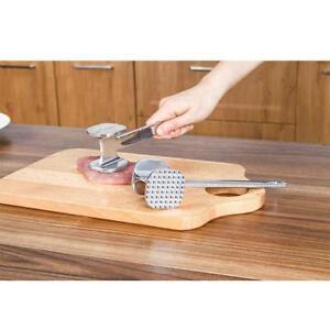 Dual-Sided-Stainless-Steel-Meat-Tenderizer-Mallet-Steak-Pork-Hammer-Kitchen-HS3