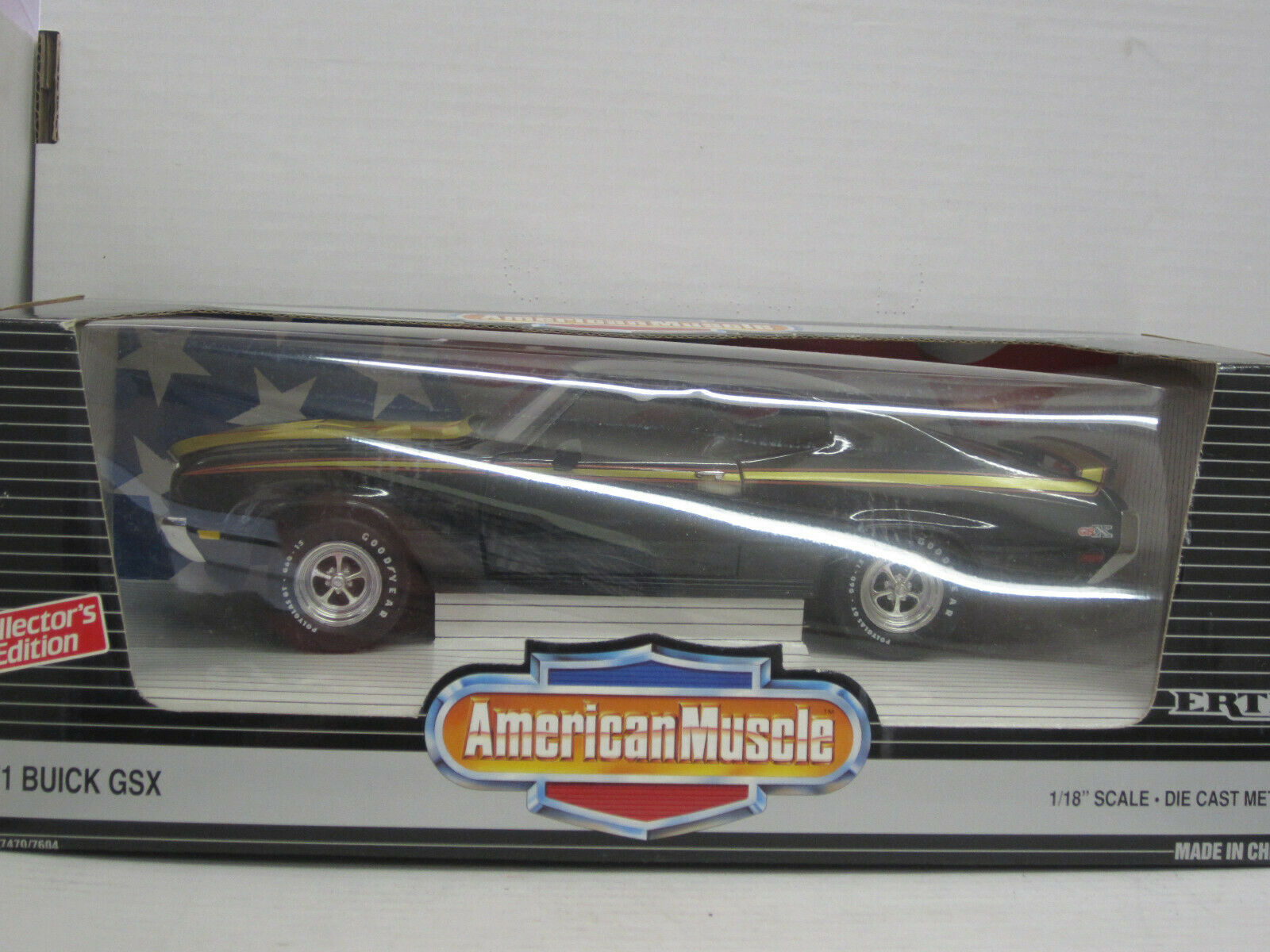 Buick GSX Coupe 1971, nero oro, ertl American muscle, OVP, 1 18