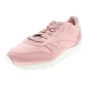 reebok womens classic leather satin leather sneakers