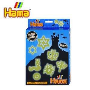 Buegelperlen-midi-von-Hama-eine-Geschenkpackung-ueber-Nachtleuchtend
