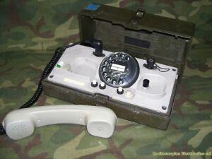 Telefono-da-campo-TEDESCO-con-combinatore-BUND-KRONE-type-WF