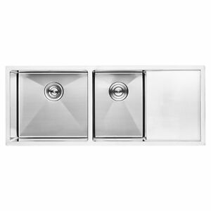 Strange Details About Bai 1255 45 Handmade Stainless Steel Kitchen Sink Double Bowl With Drainboard Download Free Architecture Designs Terchretrmadebymaigaardcom