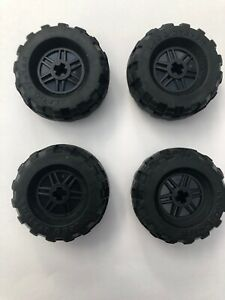 LEGO-x-4-black-technic-Wheels-37-x-18R-56891-55982-Pneus