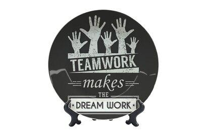 2019 Ultimo Disegno Piatto Proverbi Teamwork Stampato In Ceramica- Fabbricazione Abile