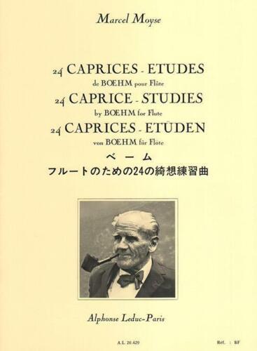 24 Caprices études de Boehm pour flûte  Flute Marcel Moyse Book Only AL20429