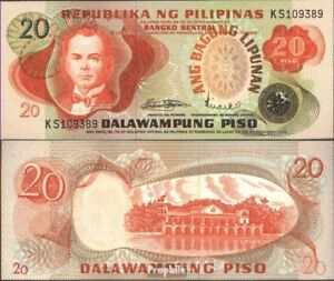 Philippines Pick-no: 162a Neuf 1978 20 Piso Idiao3vw-08002001-839869924