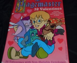 Vtg Movie The Pagemaster 32 Paper Valentines Boxed Cards Rare