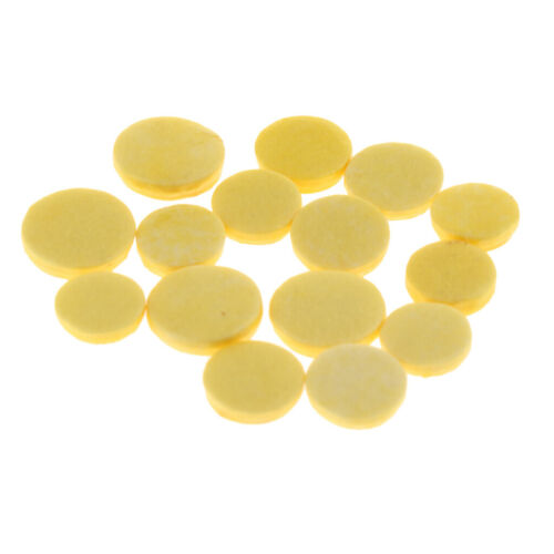 1 Pack Piccolos Pads Matten 3 Größe Gelb Farbe Holzblasinstrumente