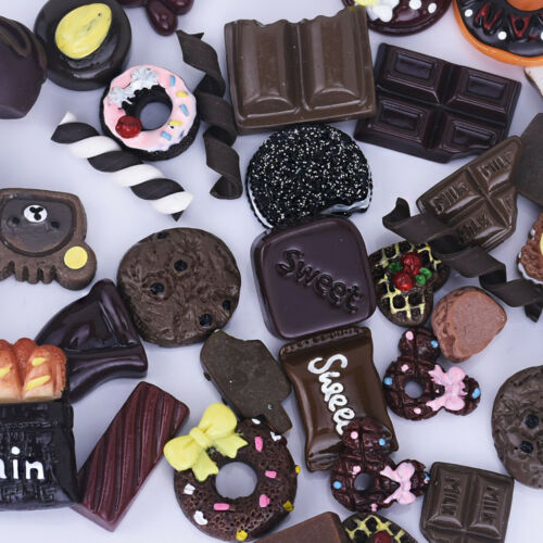 Assorted Chocolate Candy Cabochons Sweet Treats Food Cabochons 20pcs 10249950