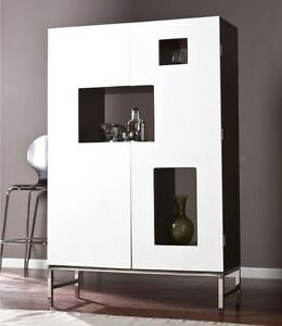 Bon Image Is Loading Liquor Cabinet Home Bar Furniture Wine Modern Stemware