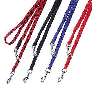 Hundeleine-Nylon-geflochten-Fuehrleine-3fach-verstellbar-2-m-Leine-fuer-Hund