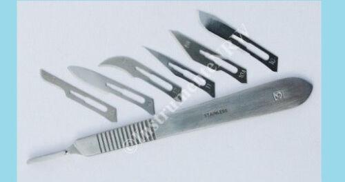 Skalpell Messer Set Nr.3 Modelliermesser Präzisionsmesser Cutter mit 10 Klingen