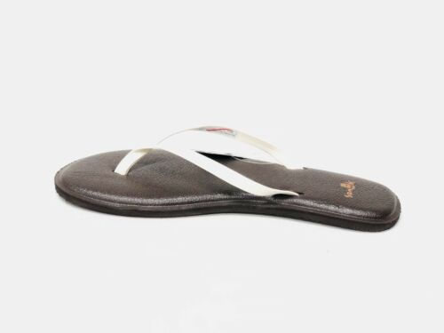 Sanuk Yoga Bliss Flip-Flop Sandale Femme SWS11048 ivoire blanc cassé Slip On Nouveau