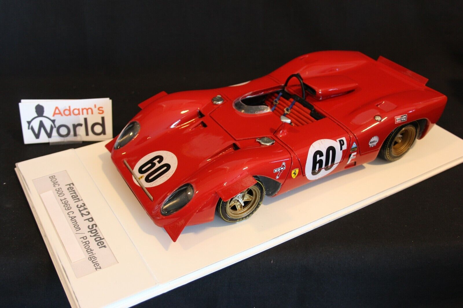 CMM Model (built kit resin) Ferrari 312P Spyder 1 12  60 BOAC 500 1969 (PJBB)
