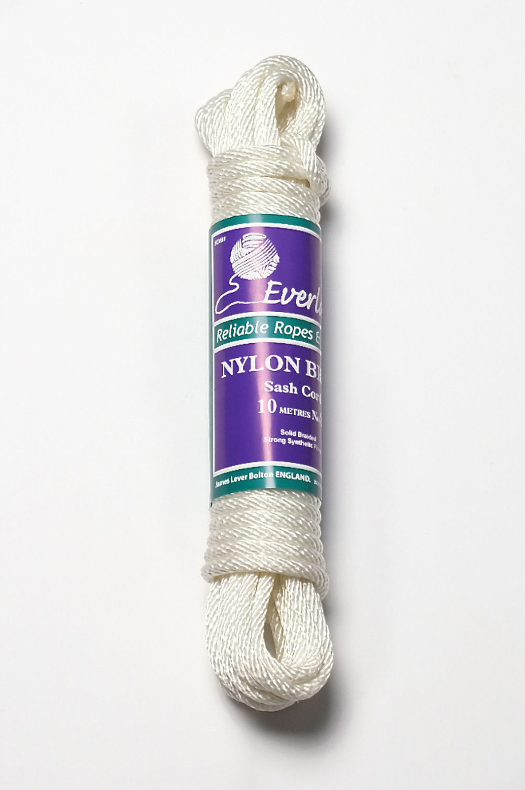 'EVERLASTO' STRONG SOLID BRAID NYLON SASH CORD - No.10 (8MM) - VARIOUS LENGTHS