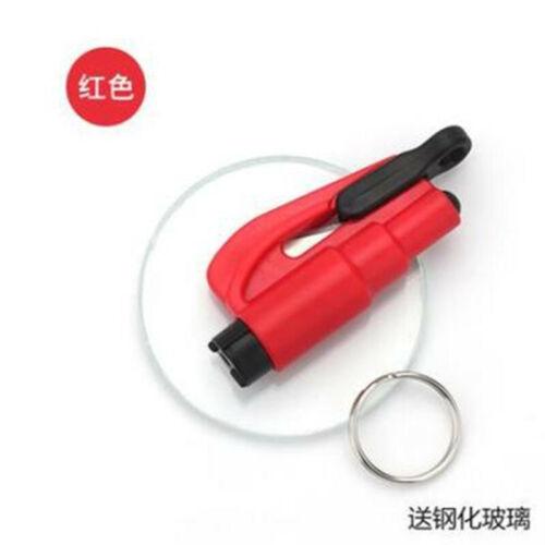 Glass Hammer Car Breaker Tools Emergency 3 in1 Window Seat Belt Cutter Key Chain