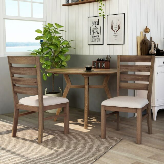 Furniture Of America Dark Cherry Dining Chair Set Of 2 Ivory 19 1 2 W X 25 D X For Sale Online Ebay