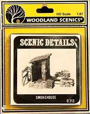 Woodland Scenics / SCENIC DETAILS HO Scale 1:87 D213 SMOKEHOUSE Diorama Decor