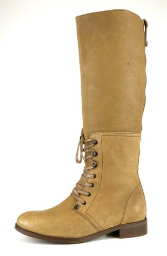 J.Crew Owen Lace Up Leather Knee High Boot Tan Wom
