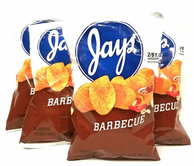 JAY'S BARBEQUE Potato Chips A Chicago Original 10 Pack 1.25oz bags