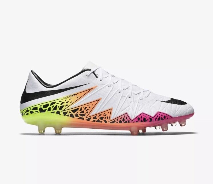 Wild casual shoes Nike Hypervenom Phinish FG ACC Soccer Cleats 8 White Volt Pink NJR 749901-108