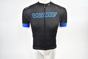 Brand-New-Verge-Strike-Short-Sleeve-Cycling-Jersey-Men-039-s-XL-Black-Blue