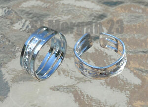 Hallmarked-925-Sterling-Silver-Toe-Ring-Adjustable-Beautiful-Design-New