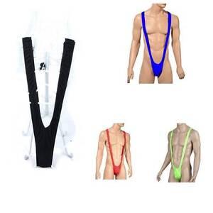 831b4726d3 Hot Sexy Men Mankini Thong Dress Up Stag Party Beach Borat Swim ...