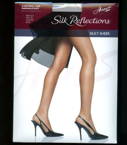 Hanes Silk Reflections Control Top reinforced toe silky sheer pantyhose hosiery