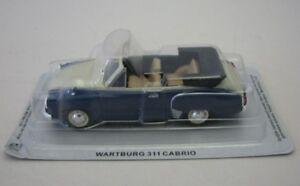 Wartburg-311-Cabrio-blau-weiss-DDR-DieCast-Modellauto-1-43