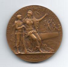 French Art Nouveau / Bronze Medal / Pro Patria / GRANDHOMME. M39