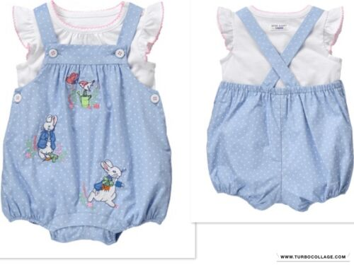 NEW GYMBOREE Girls PETER RABBITS BUNNY OUTFIT NWT SIZES 6-12 MTHS 12-18 MTH