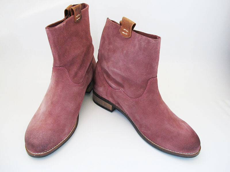 pink by Noe Small Heel Women Suede Leather Ankle Boots shoes