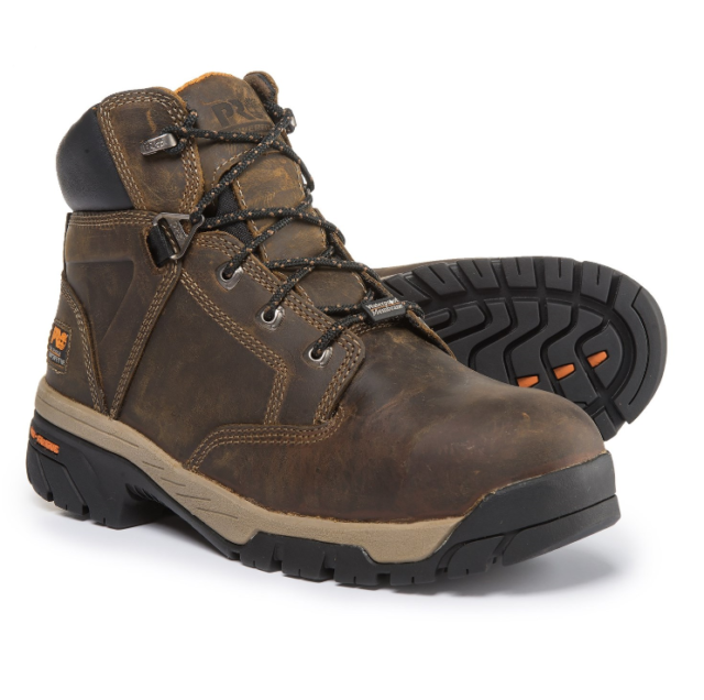 b1cefac889a Timberland Pro Men's Helix 6 Inch TITAN Safety Toe Work Boot Brown 11 M US