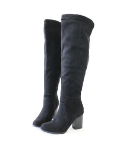 ccea48006ed1 Simple Chic Vegan Suede Whipstich Over The Knee High Boots Stocked ...