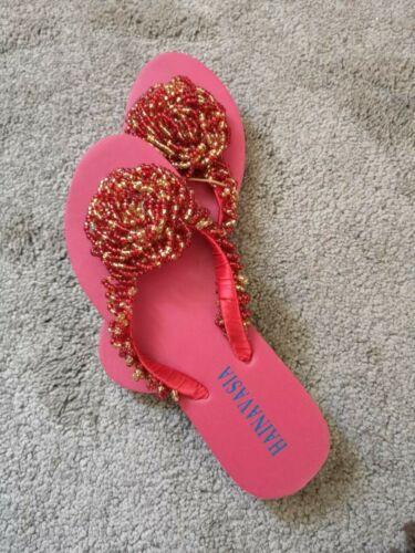 Summer Flip Flop African Beaded slipper Ladies Holiday Beach Casual Wear