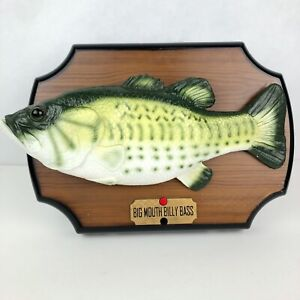 Original-1999-Gemmy-Big-Mouth-Billy-Bass-Singing-Fish-Decor-Works-partially