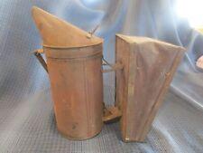 Vintage Bee Hive Smoker Equipment Leather Bellows Primitive Decor