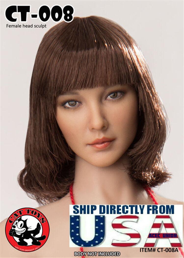 1 6 Scale Female Head Sculpt American CT008A For PHICEN Hot Toys Figure U.S.A.