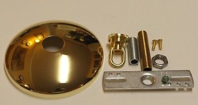 """5/"""" WHITE SCREW COLLAR CEILING CANOPY KIT FOR LIGHT FIXTURES,CHANDELIERS 11834WJB"""