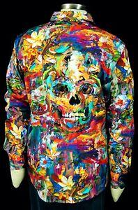 NWT Robert Graham Malecon Two-Tone Plaid Sport Shirt 4XL $278 GREAT GIFT!