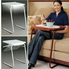 Smart Table Mate Foldable Folding table As Seen On Tv Adjustable Wood Grain Colr