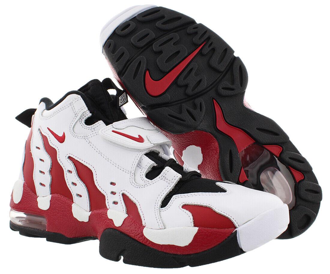 Mens Nike Air Diamond Turf Max 96 White Varsity Red Black 316408 161 US 10.5