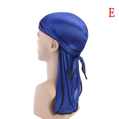 Satin Breathable Bandana Hat Silky Durag Do Doo Du Rag Long Tail Headwrap Bb