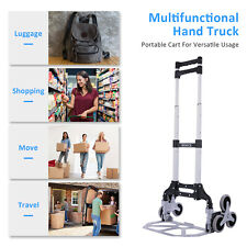 Portable Folding Trolley Heavy Duty Stair Climbing Cart With 2 Wheels Outdoor Us