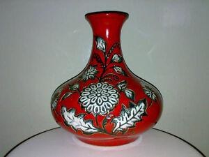 Vase-Walter-Gerhards-KG-705-24-Loewenzahn-Rot-Floral-Mid-Century-Dandelion-WGP